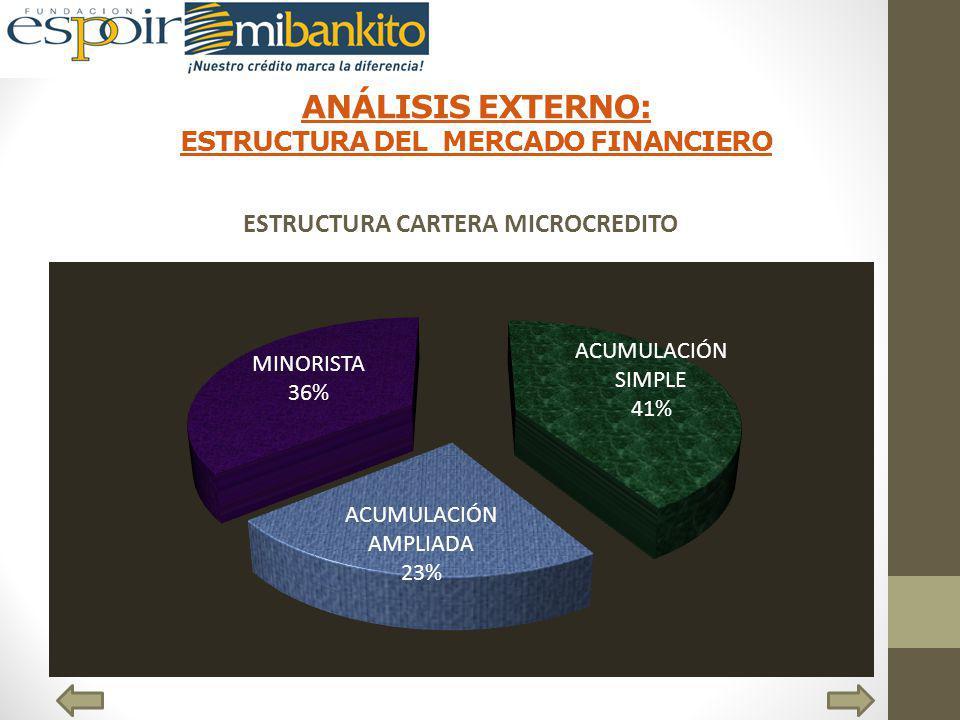 ANÁLISIS EXTERNO: ESTRUCTURA DEL MERCADO FINANCIERO