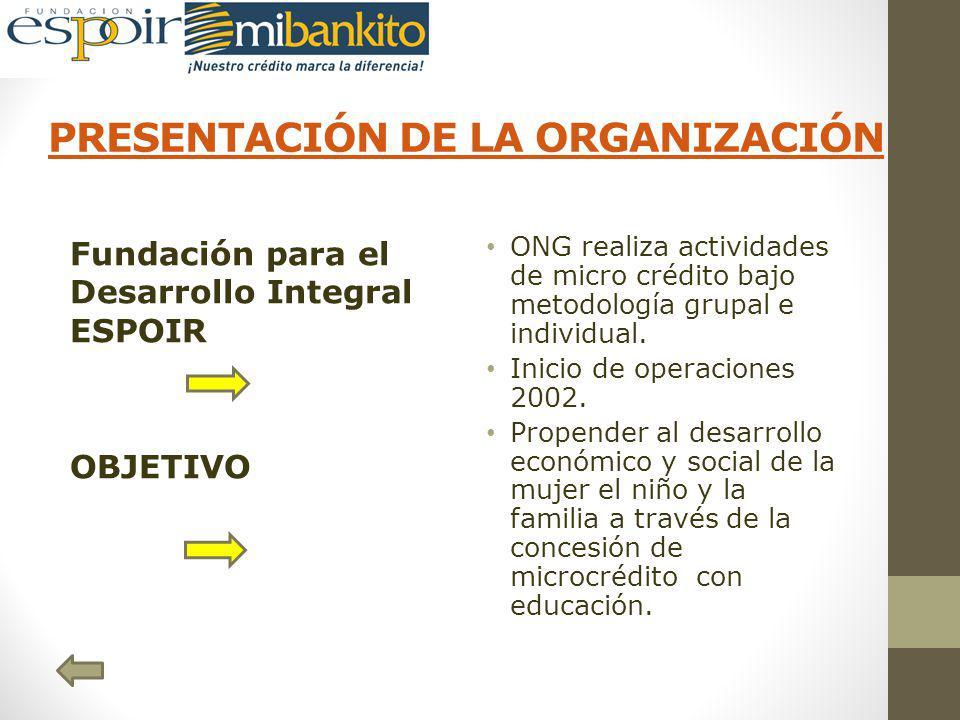 PRESENTACIÓN DE LA ORGANIZACIÓN