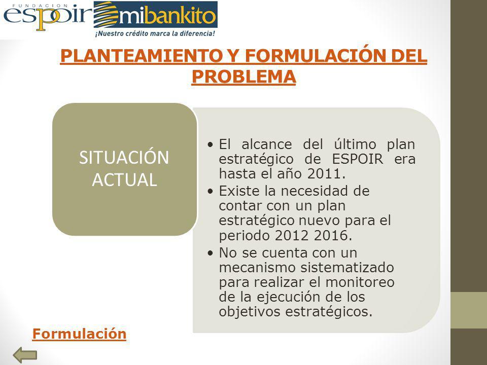 PLANTEAMIENTO Y FORMULACIÓN DEL PROBLEMA