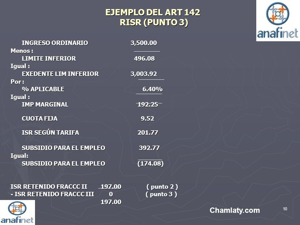 EJEMPLO DEL ART 142 RISR (PUNTO 3)