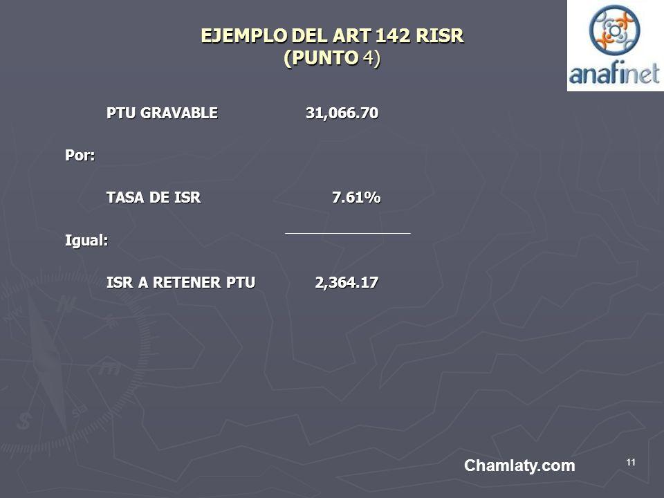EJEMPLO DEL ART 142 RISR (PUNTO 4)