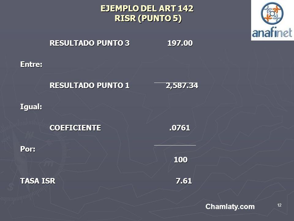 EJEMPLO DEL ART 142 RISR (PUNTO 5)