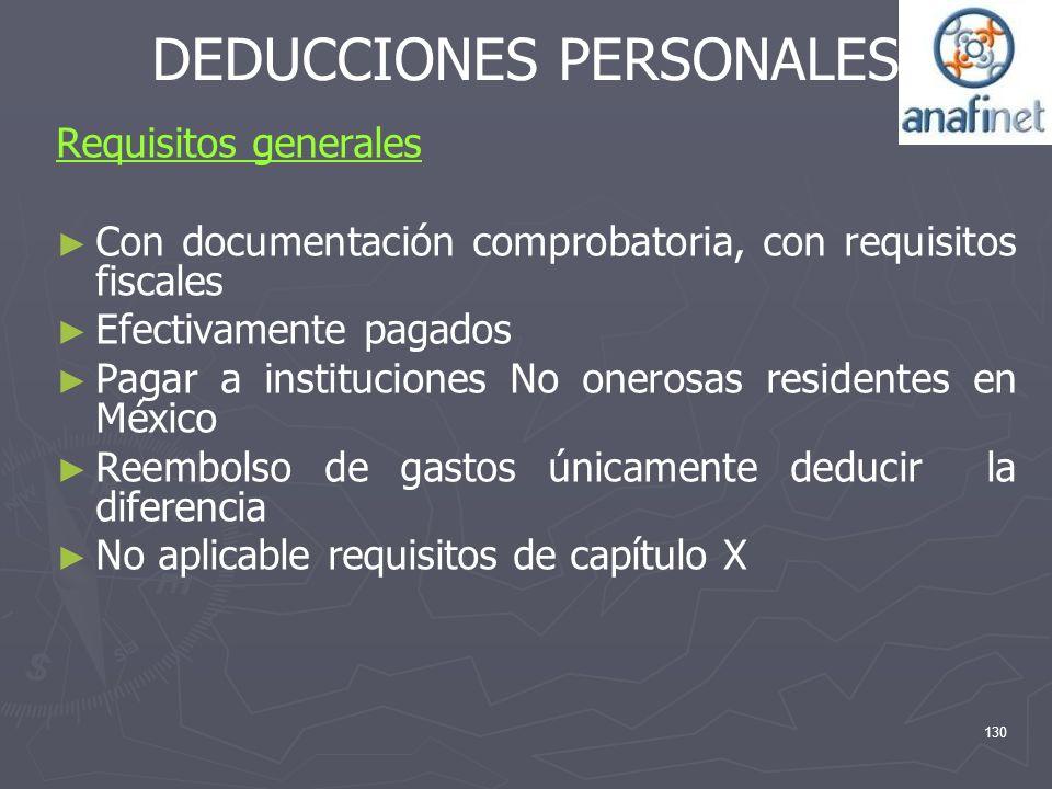 DEDUCCIONES PERSONALES