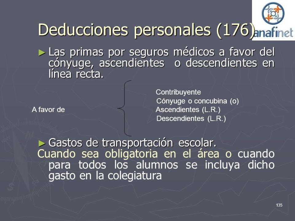 Deducciones personales (176)
