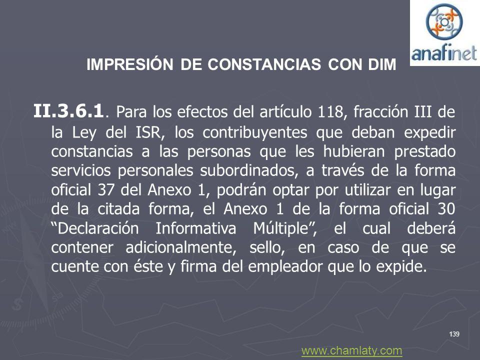 IMPRESIÓN DE CONSTANCIAS CON DIM