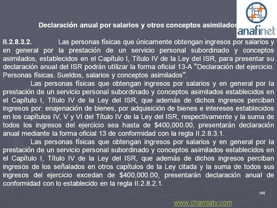 Declaración anual por salarios y otros conceptos asimilados