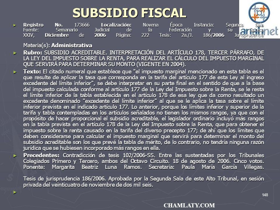 SUBSIDIO FISCAL CHAMLATY.COM