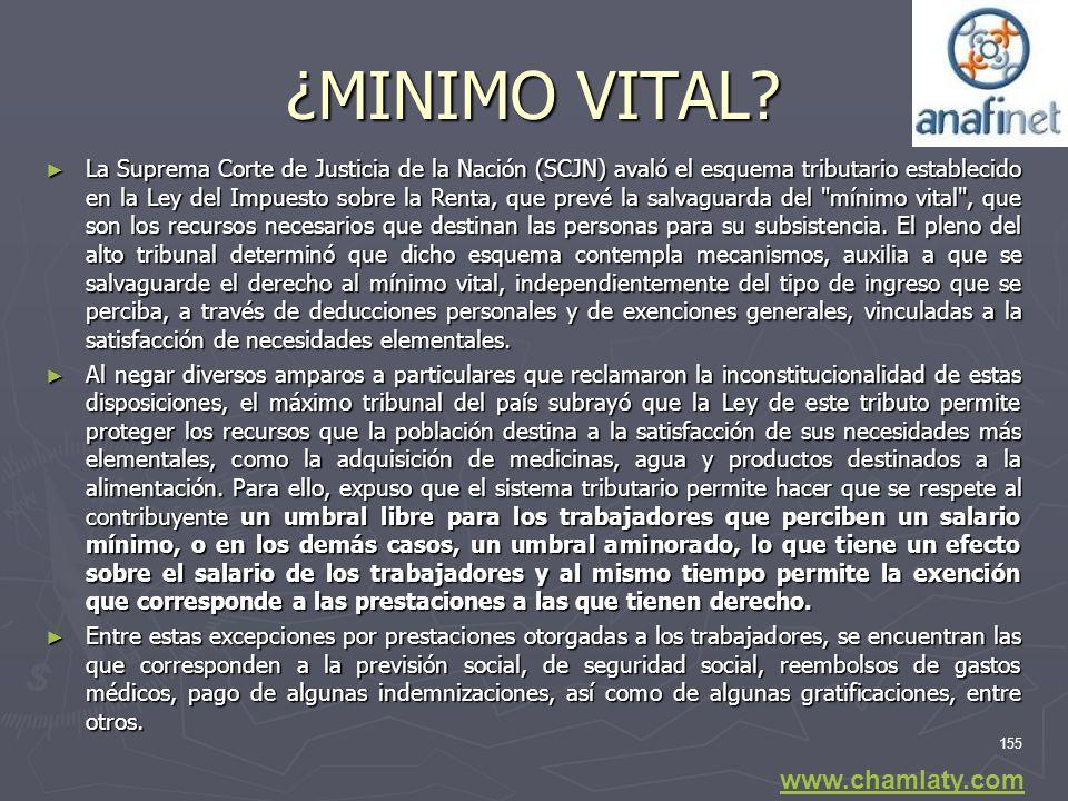 ¿MINIMO VITAL www.chamlaty.com