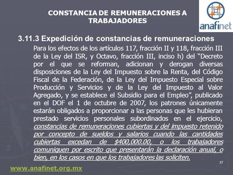 CONSTANCIA DE REMUNERACIONES A TRABAJADORES