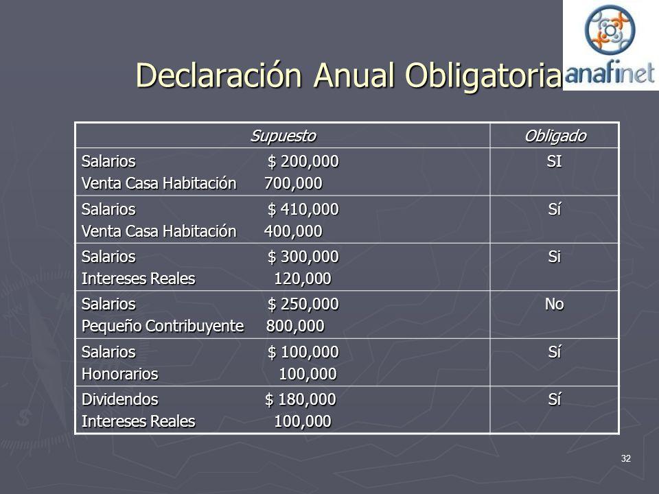Declaración Anual Obligatoria