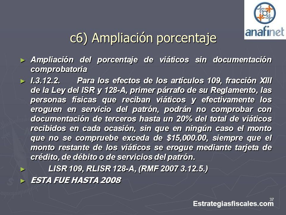 c6) Ampliación porcentaje