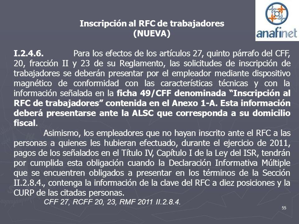 Inscripción al RFC de trabajadores
