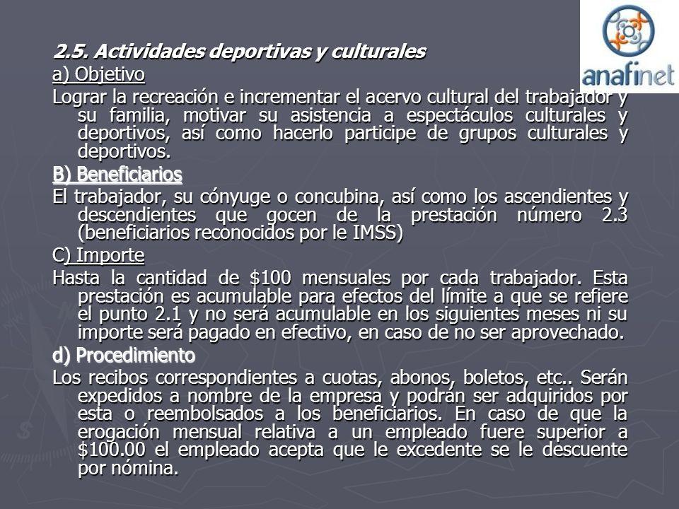 2.5. Actividades deportivas y culturales