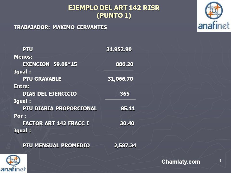 EJEMPLO DEL ART 142 RISR (PUNTO 1)