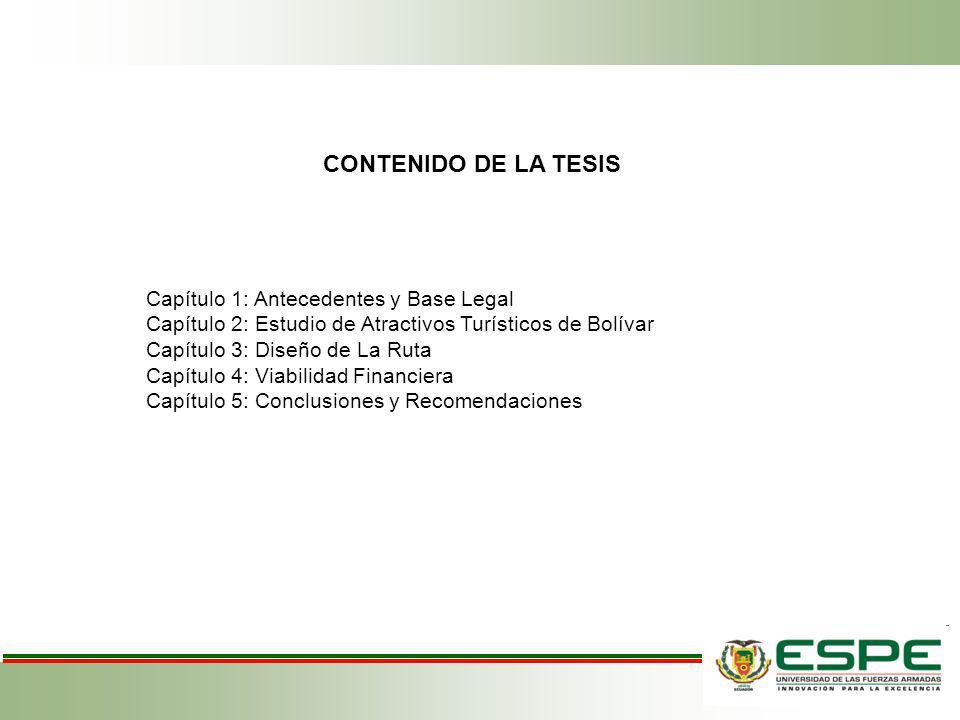 CONTENIDO DE LA TESIS Capítulo 1: Antecedentes y Base Legal