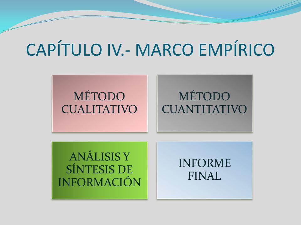 CAPÍTULO IV.- MARCO EMPÍRICO