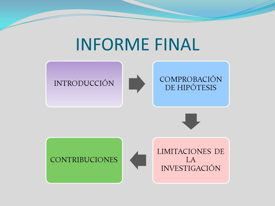 INFORME FINAL INTRODUCCIÓN COMPROBACIÓN DE HIPÓTESIS