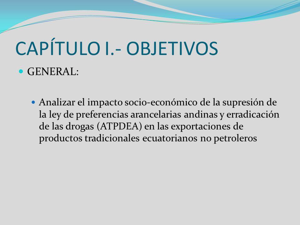 CAPÍTULO I.- OBJETIVOS GENERAL: