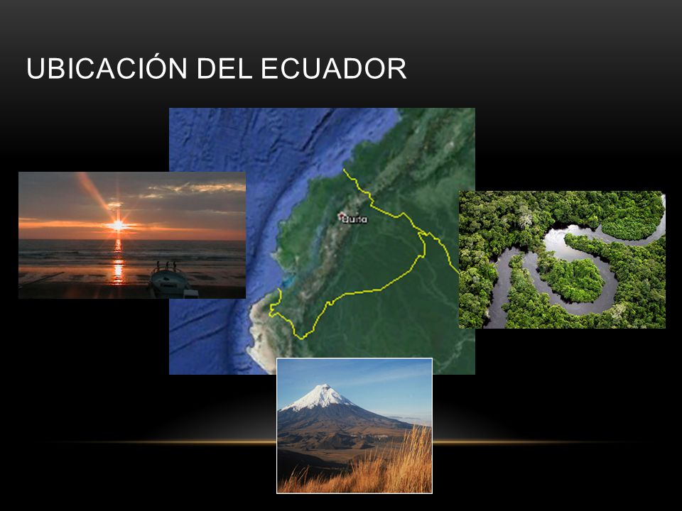 Ubicación del ecuador