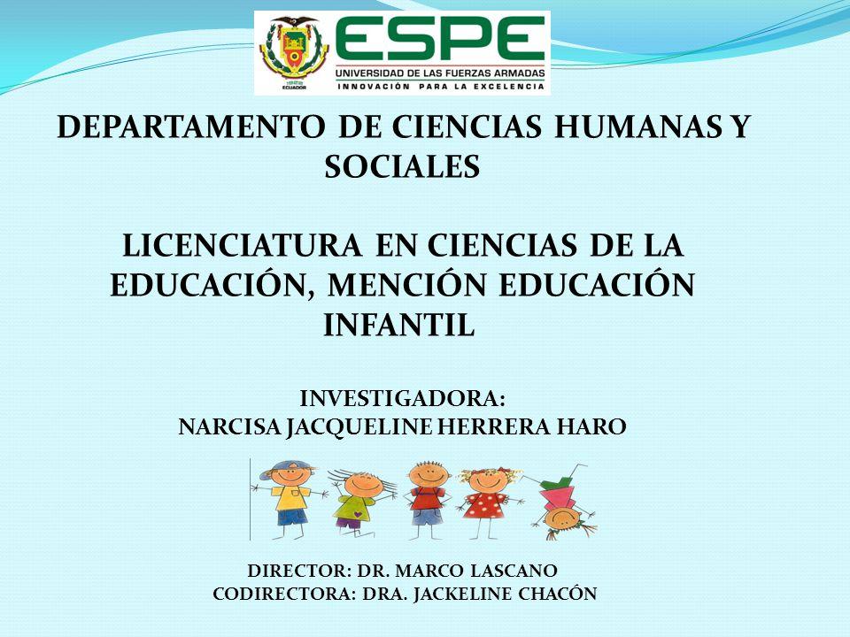 DIRECTOR: DR. MARCO LASCANO CODIRECTORA: DRA. JACKELINE CHACÓN