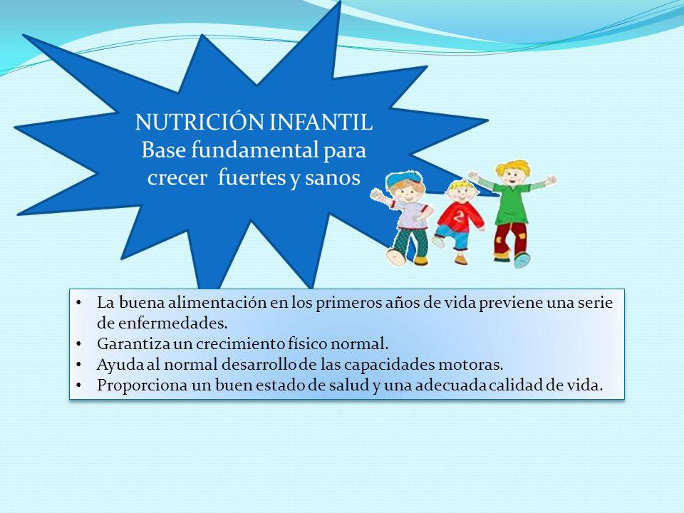 La buena alimentación en los primeros años de vida previene una serie de enfermedades.