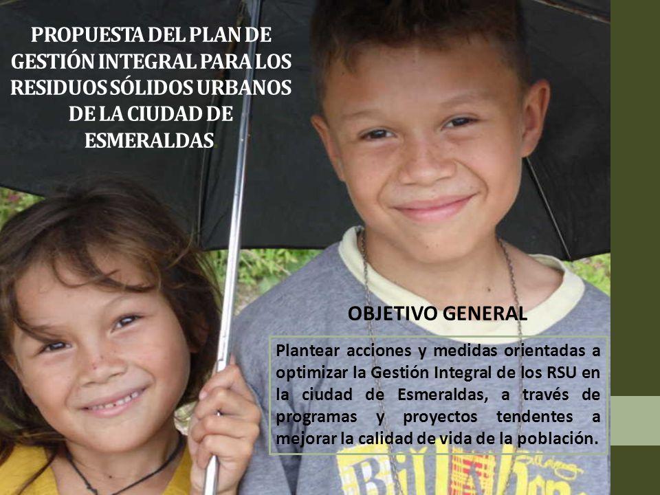 PROPUESTA DEL PLAN DE GESTIÓN INTEGRAL PARA LOS RESIDUOS SÓLIDOS URBANOS DE LA CIUDAD DE ESMERALDAS.
