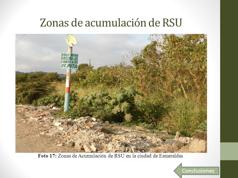Zonas de acumulación de RSU