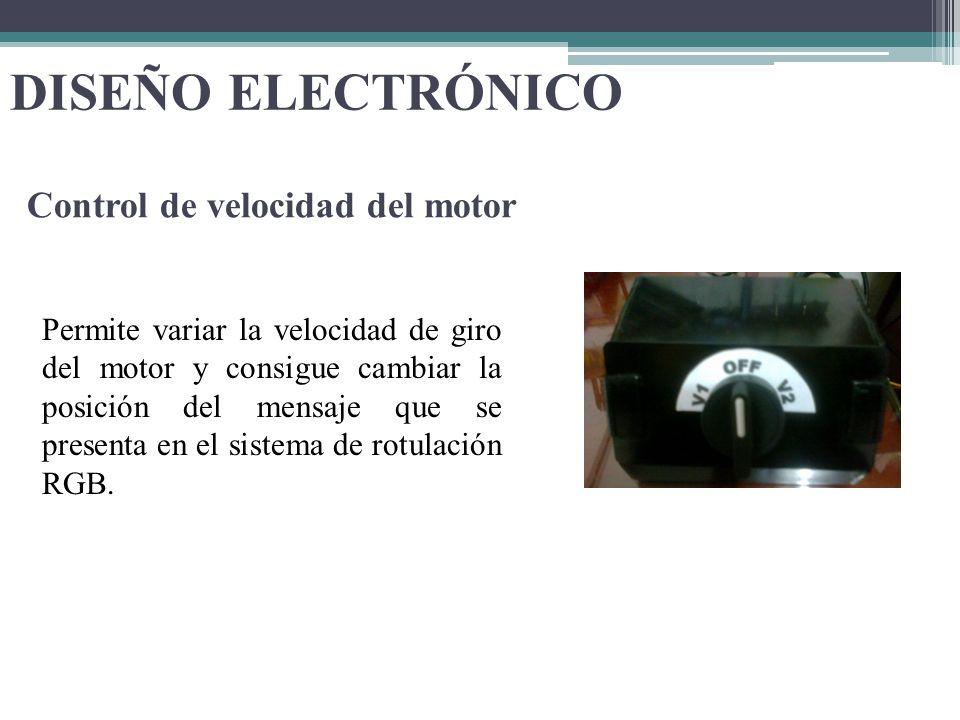 DISEÑO ELECTRÓNICO Control de velocidad del motor