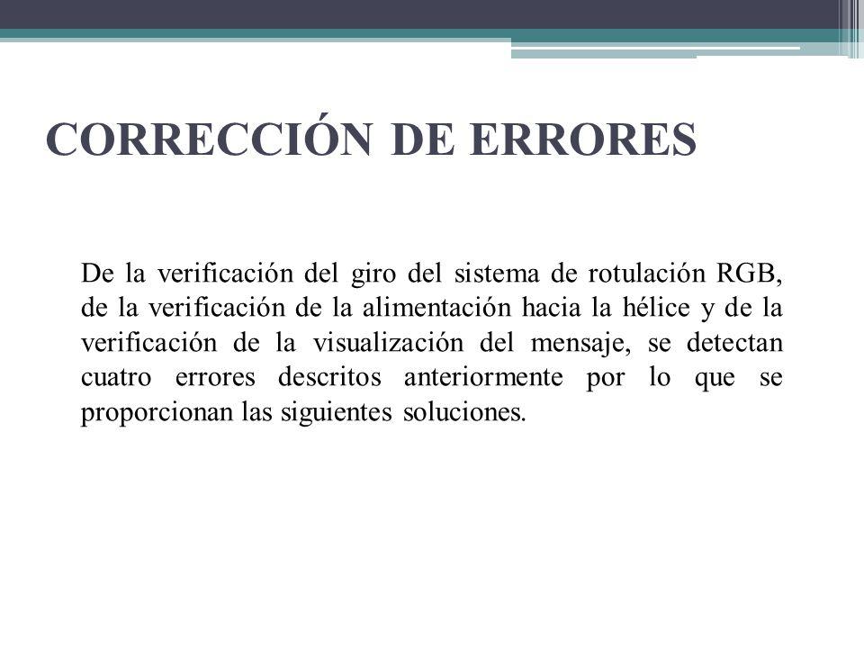CORRECCIÓN DE ERRORES