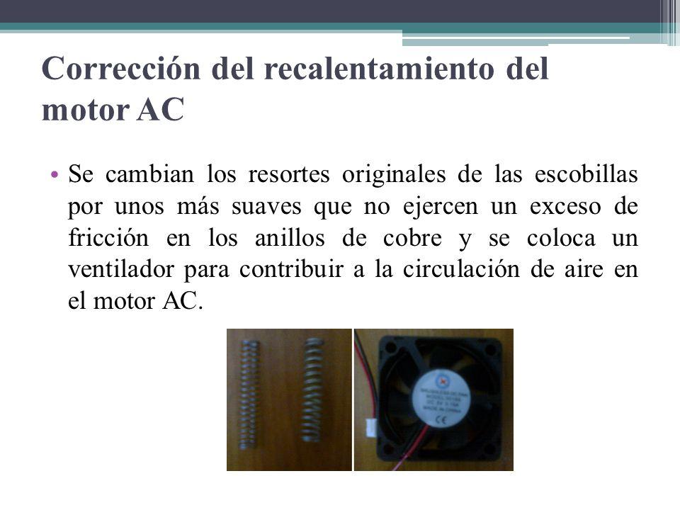 Corrección del recalentamiento del motor AC