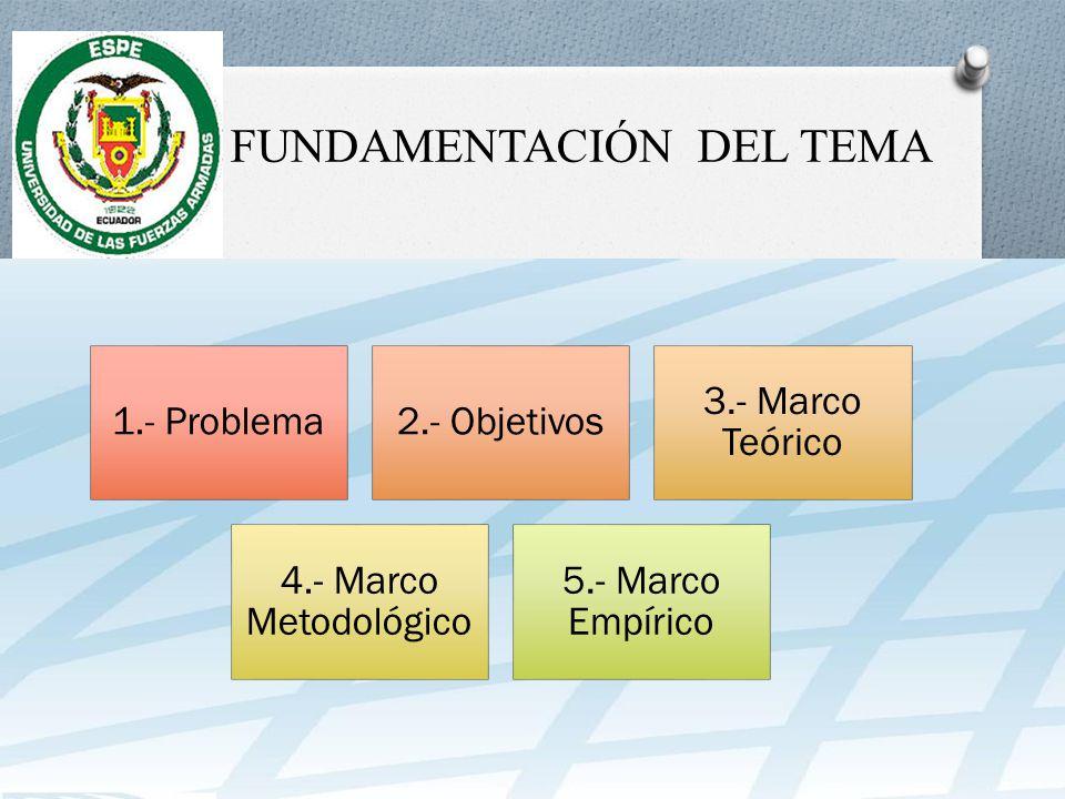 I. FUNDAMENTACIÓN DEL TEMA
