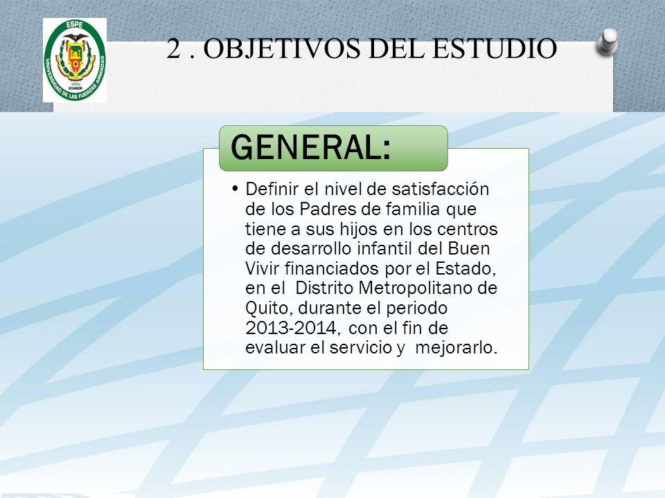 GENERAL: 2 . OBJETIVOS DEL ESTUDIO