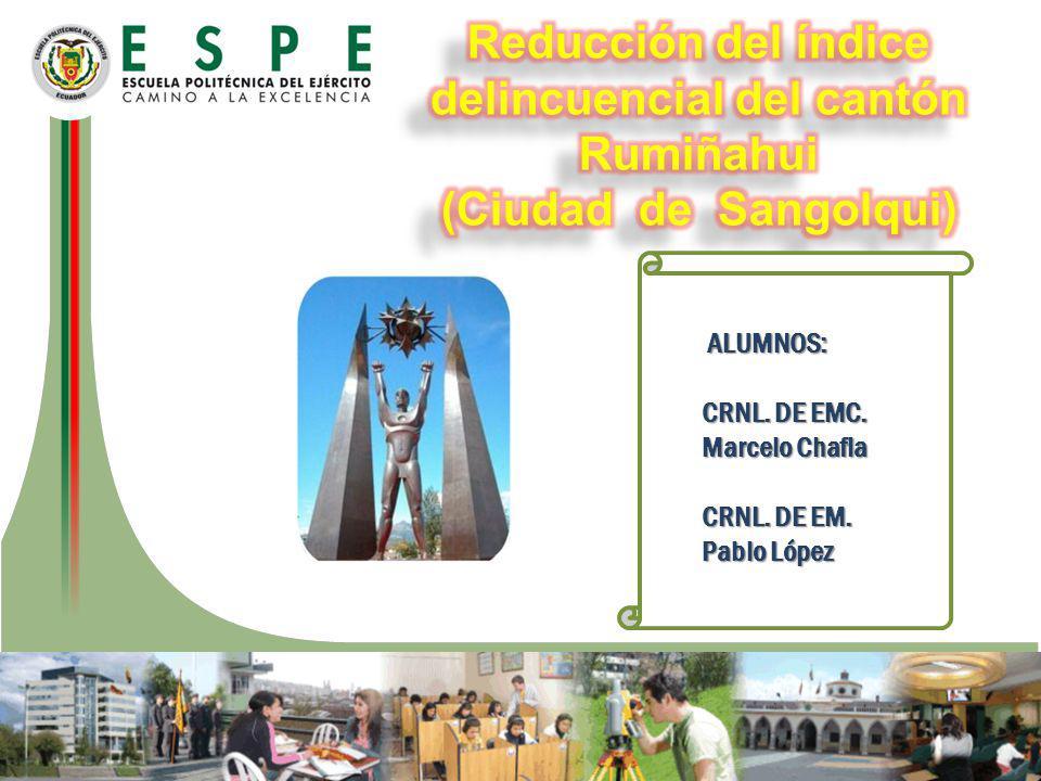 Reducción del índice delincuencial del cantón Rumiñahui