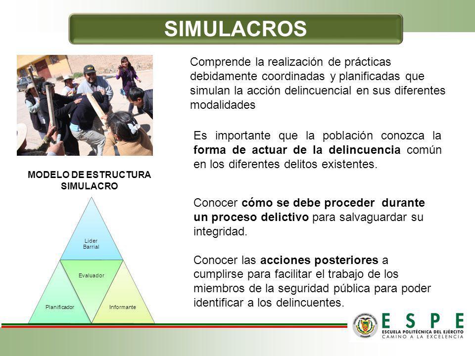 MODELO DE ESTRUCTURA SIMULACRO