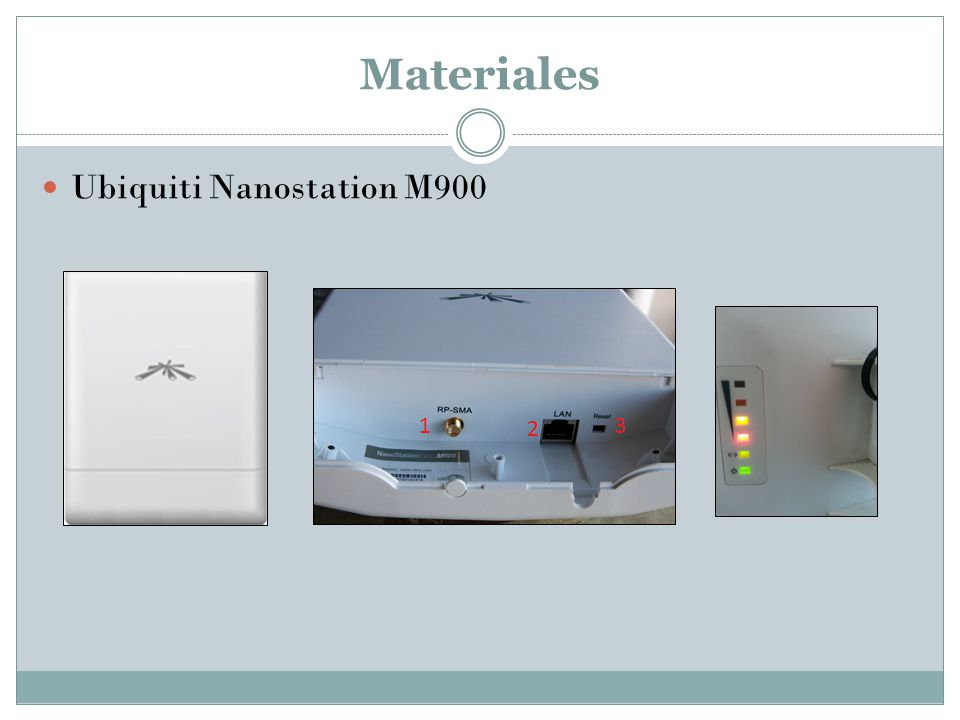 Materiales Ubiquiti Nanostation M900