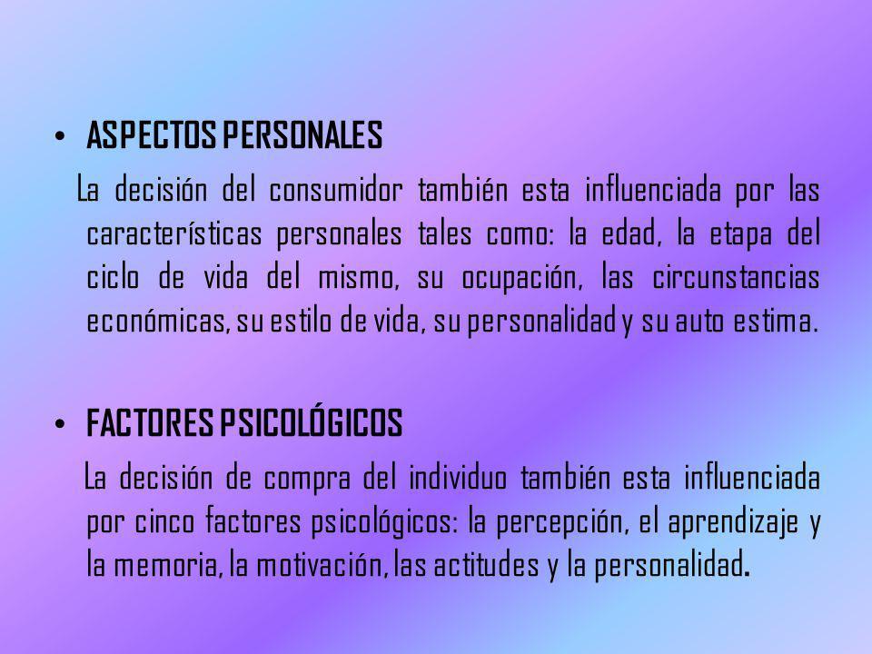 ASPECTOS PERSONALES