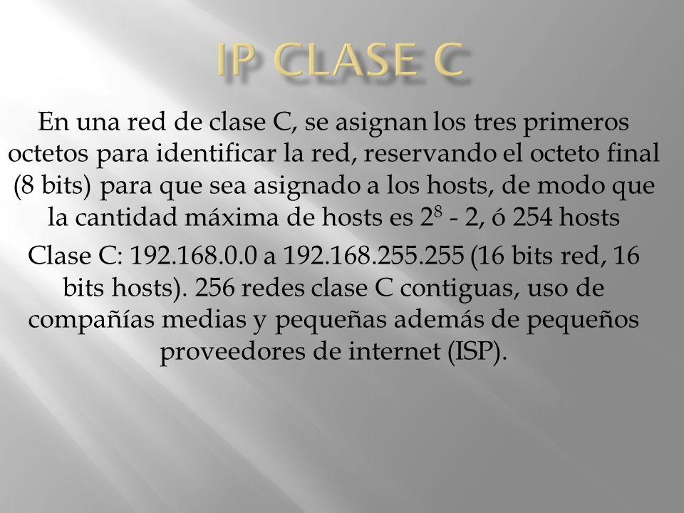 IP CLASE C