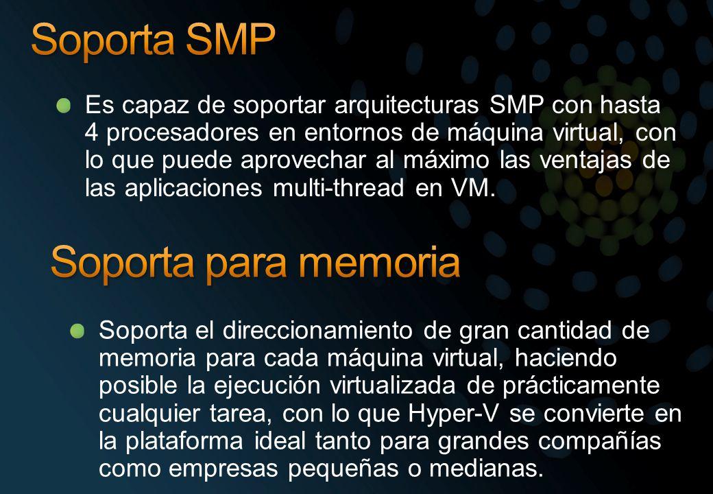Soporta SMP Soporta para memoria