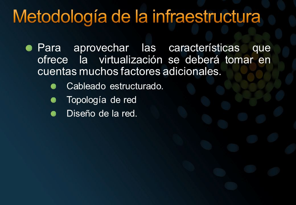 Metodología de la infraestructura