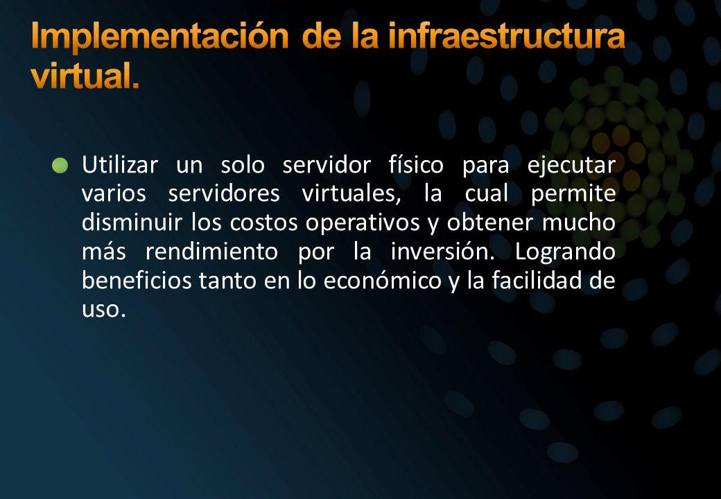 Implementación de la infraestructura virtual.