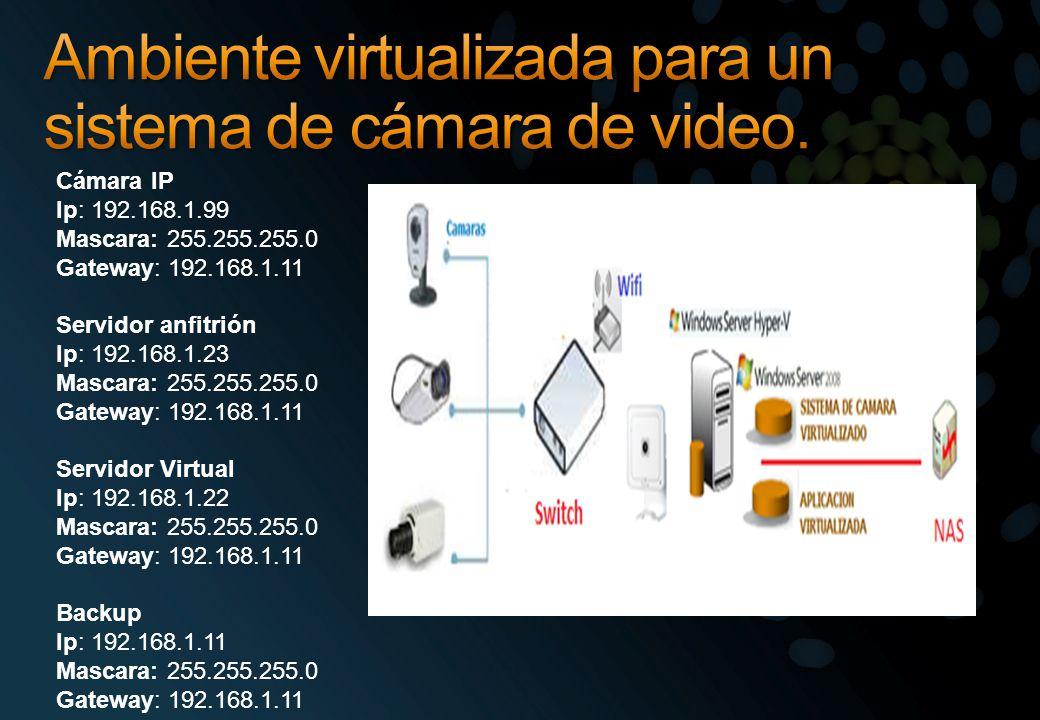 Ambiente virtualizada para un sistema de cámara de video.