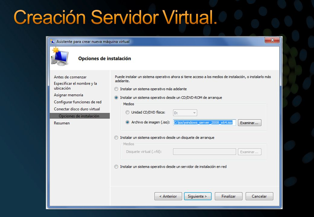 Creación Servidor Virtual.