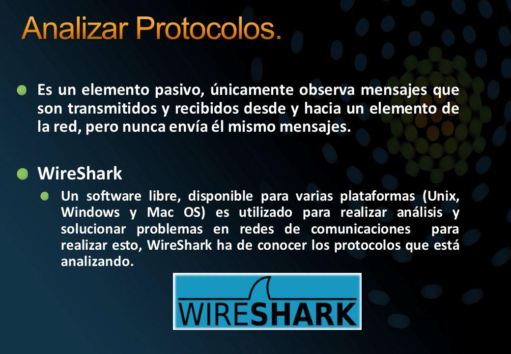 Analizar Protocolos. WireShark