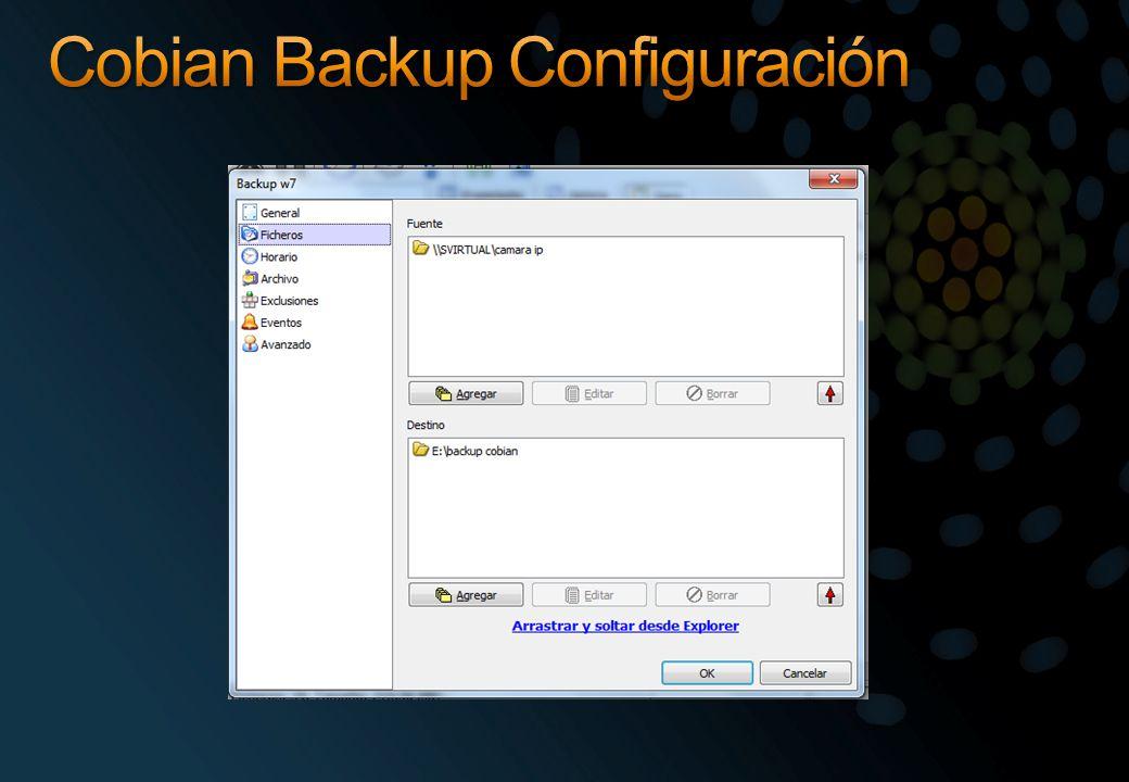 Cobian Backup Configuración