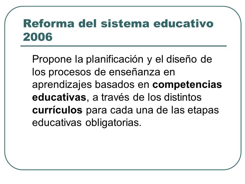 Reforma del sistema educativo 2006