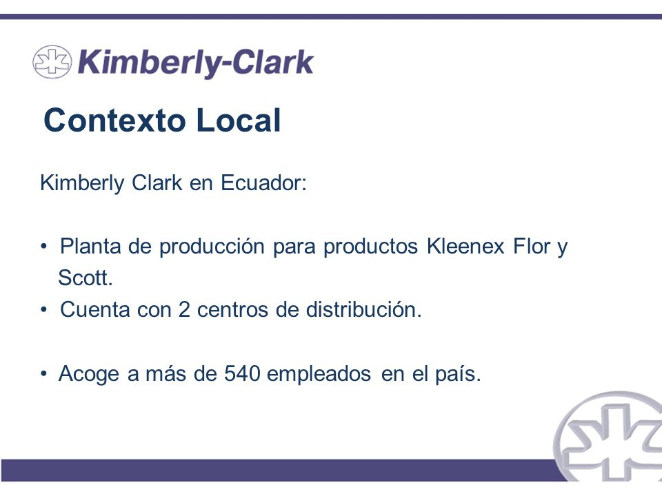 Contexto Local Kimberly Clark en Ecuador: