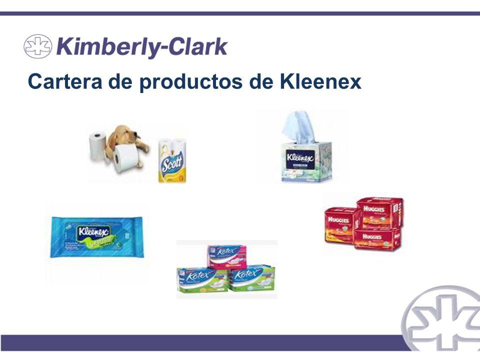 Cartera de productos de Kleenex