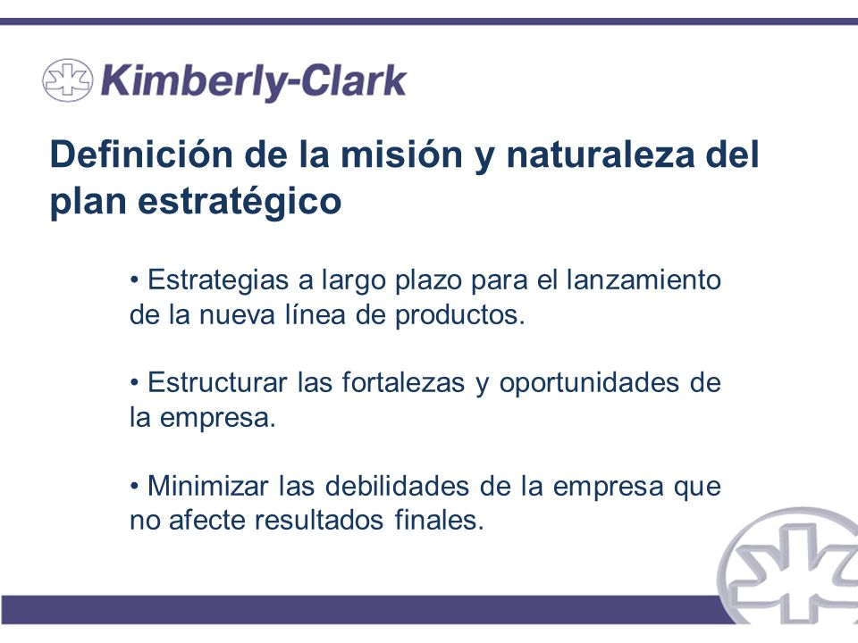 Definición de la misión y naturaleza del plan estratégico
