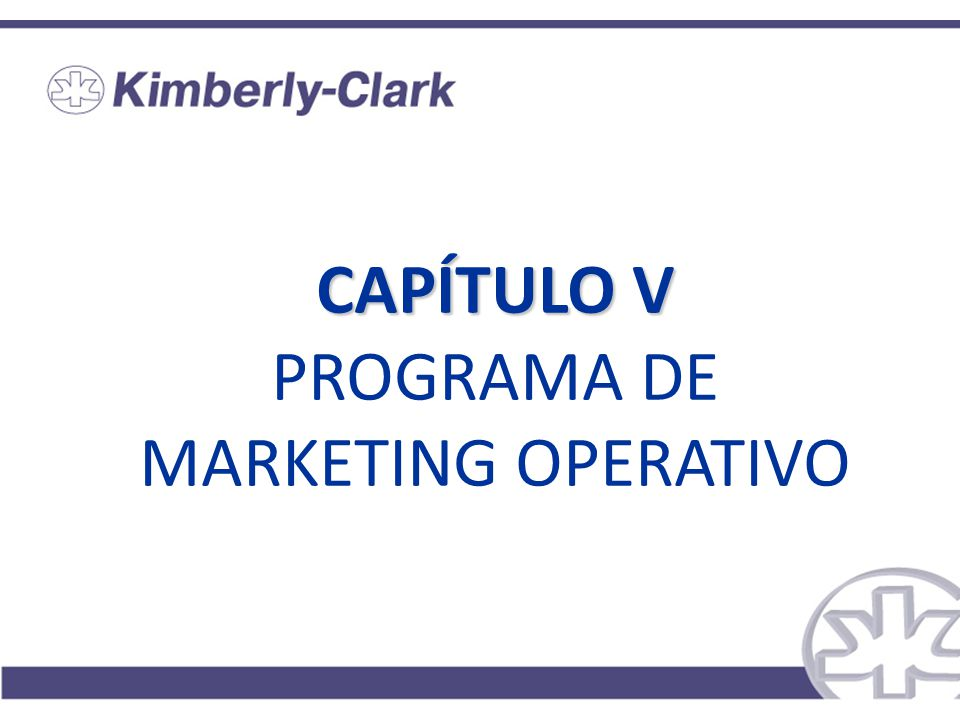 CAPÍTULO V PROGRAMA DE MARKETING OPERATIVO