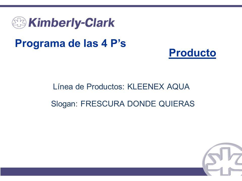 Programa de las 4 P's Producto Línea de Productos: KLEENEX AQUA